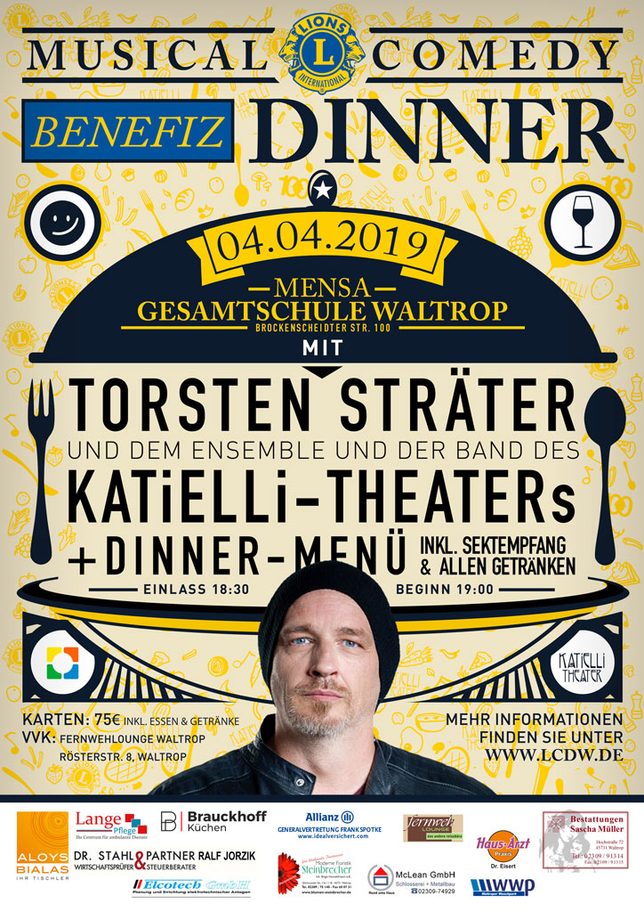 Benefiz-Dinner 2019 Plakat
