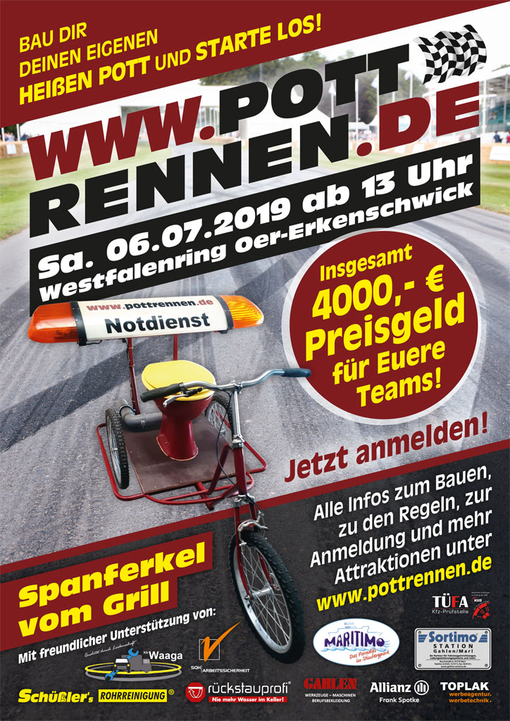 Flyer Pott-Rennen 2019